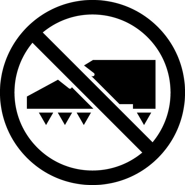 スパイク禁止マークのカッティングシートステッカー