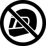 ヘルメット着用禁止マークのカッティングシートステッカー