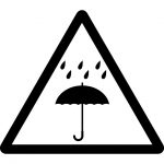 雨濡れ注意マークのカッティングシートステッカー