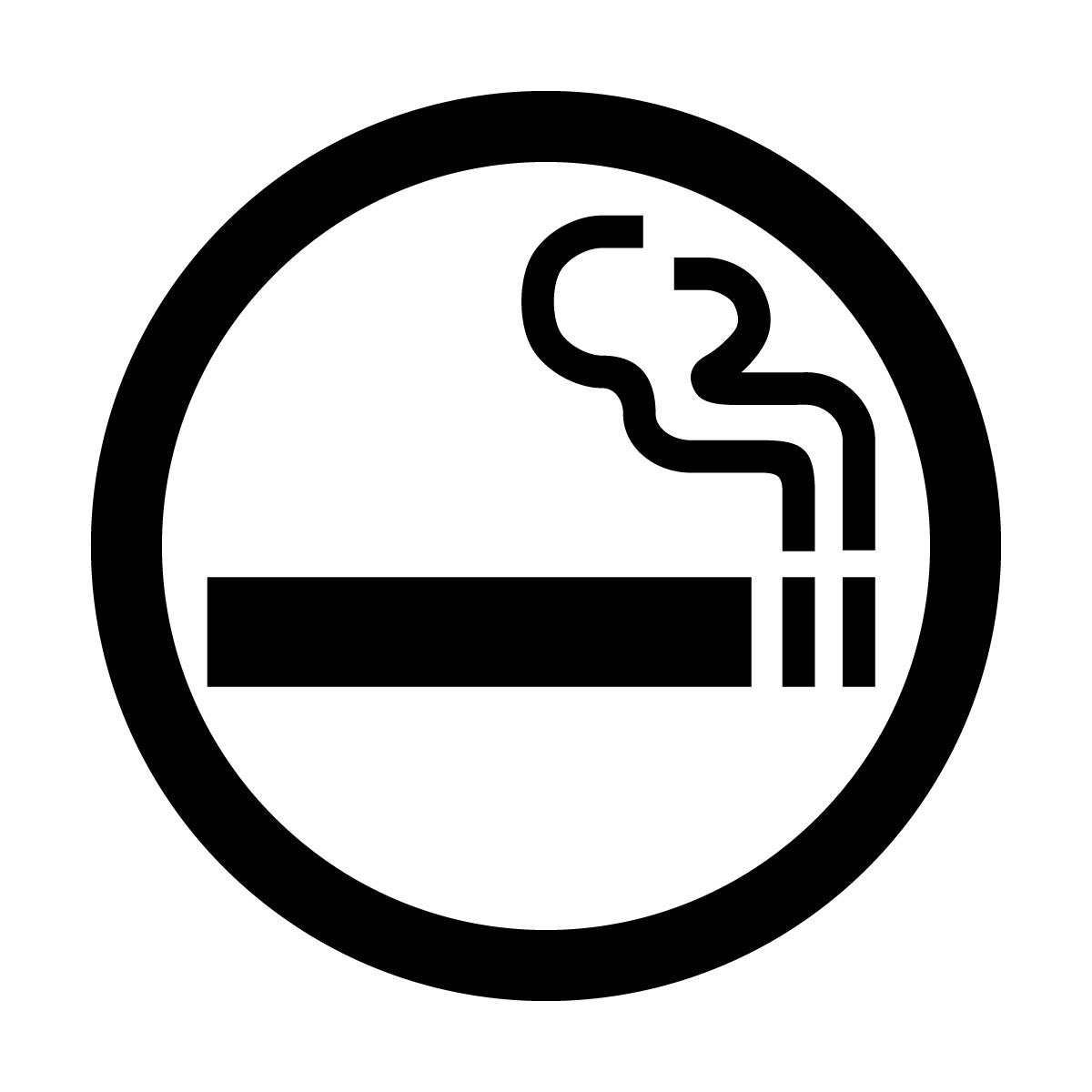 黒色の喫煙OKマークのカッティングステッカー