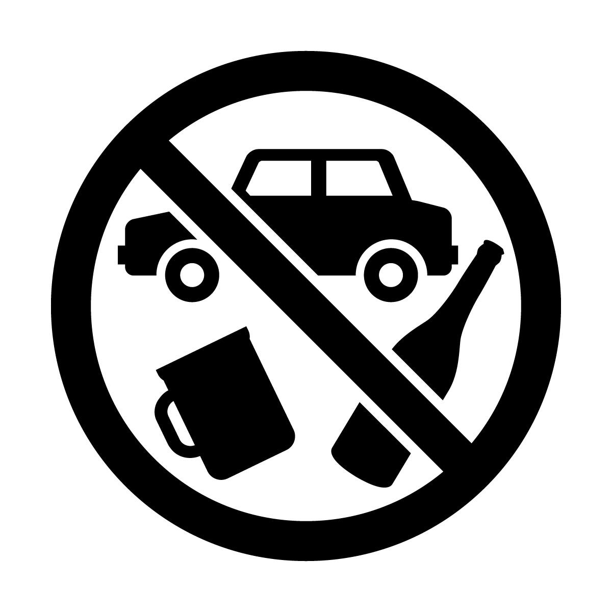 黒色の飲酒運転禁止マークのカッティングステッカーシール