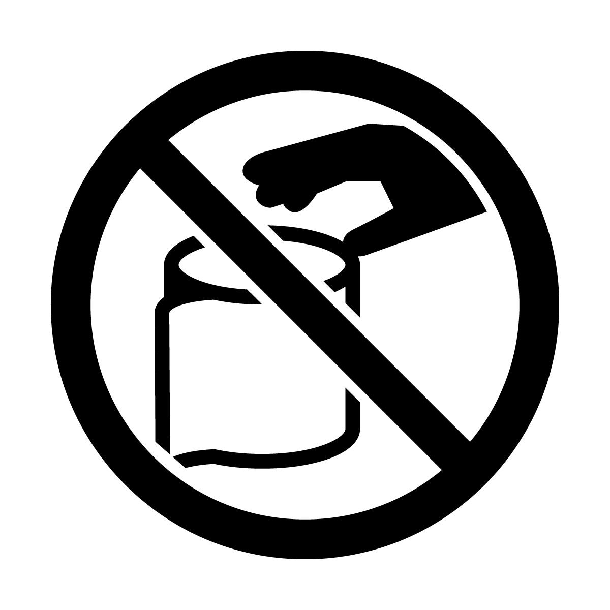 黒色のトイレットペーパーの持ち帰りを注意・禁止するマークのカッティングステッカーシール