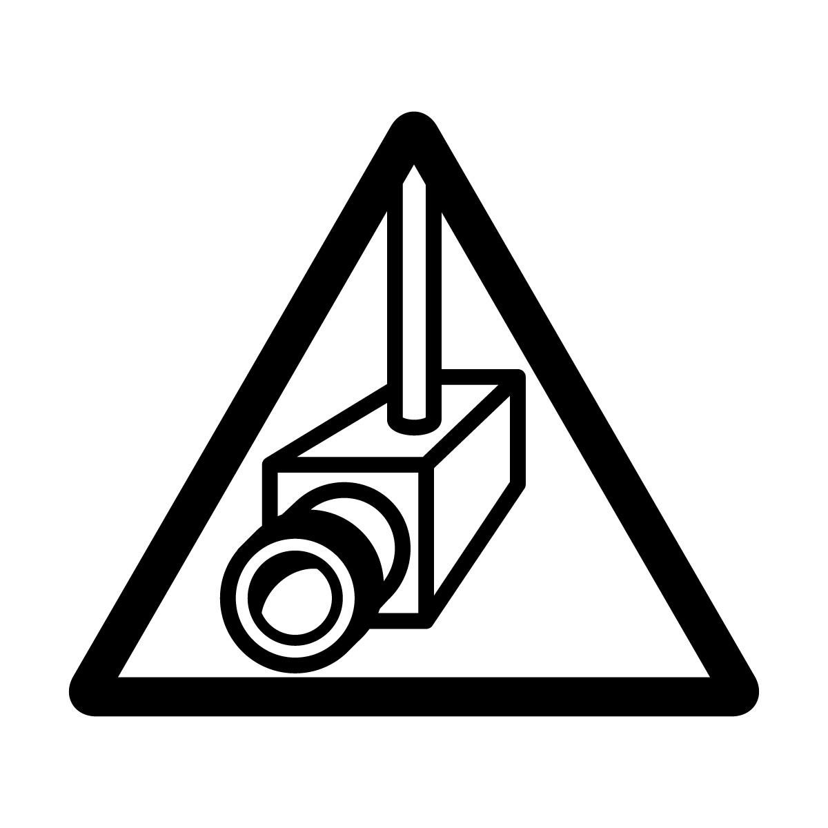 黒い防犯カメラ・盗難抑止の注意マーク