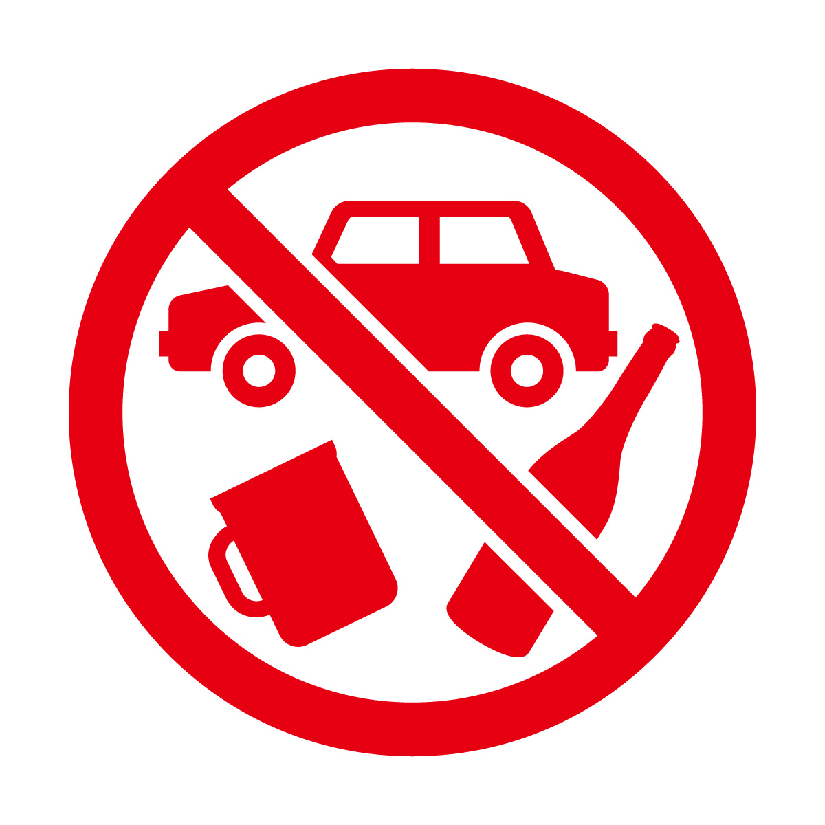 赤色の飲酒運転禁止マークのカッティングステッカーシール