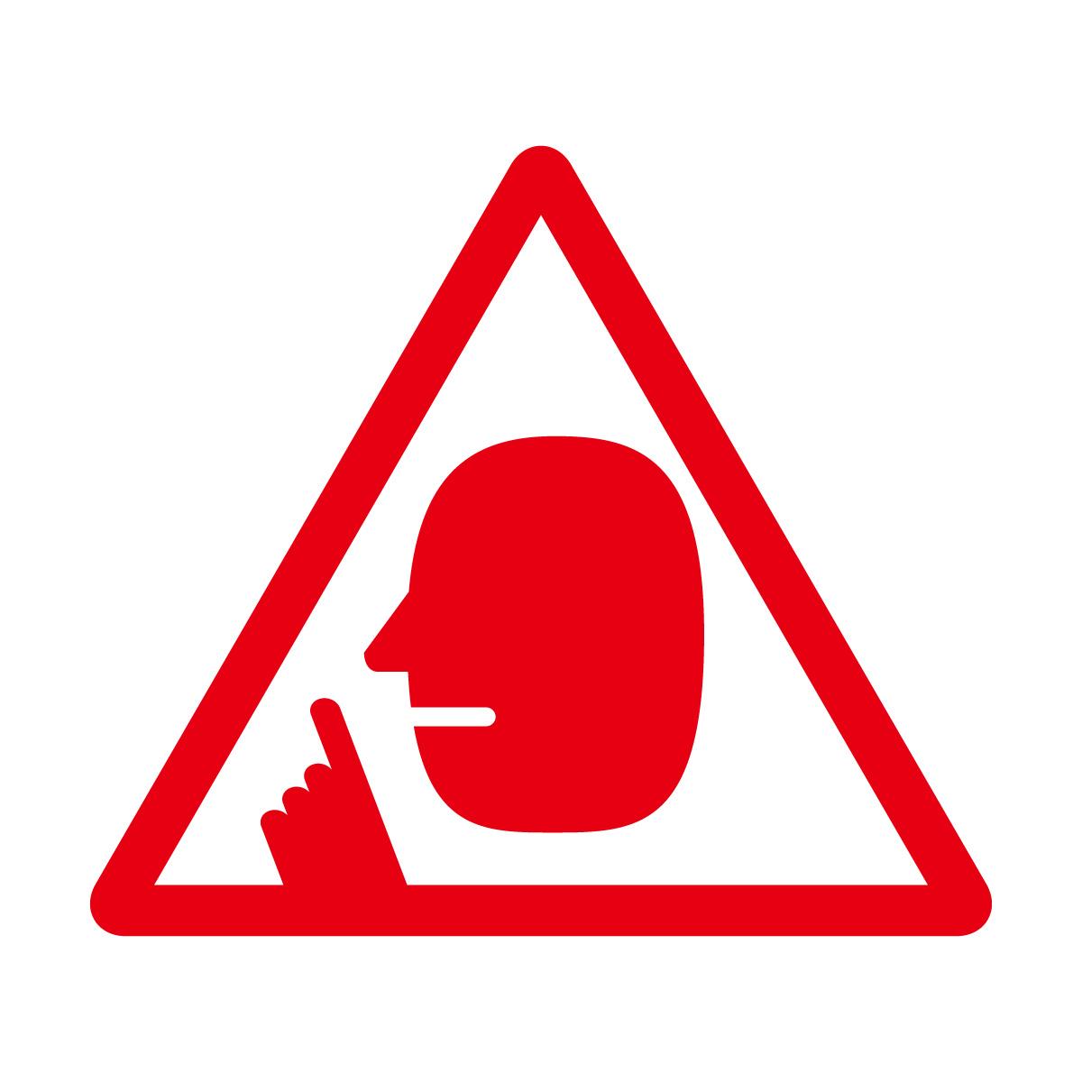 赤色の 騒音注意マークのカッティングステッカー・シール