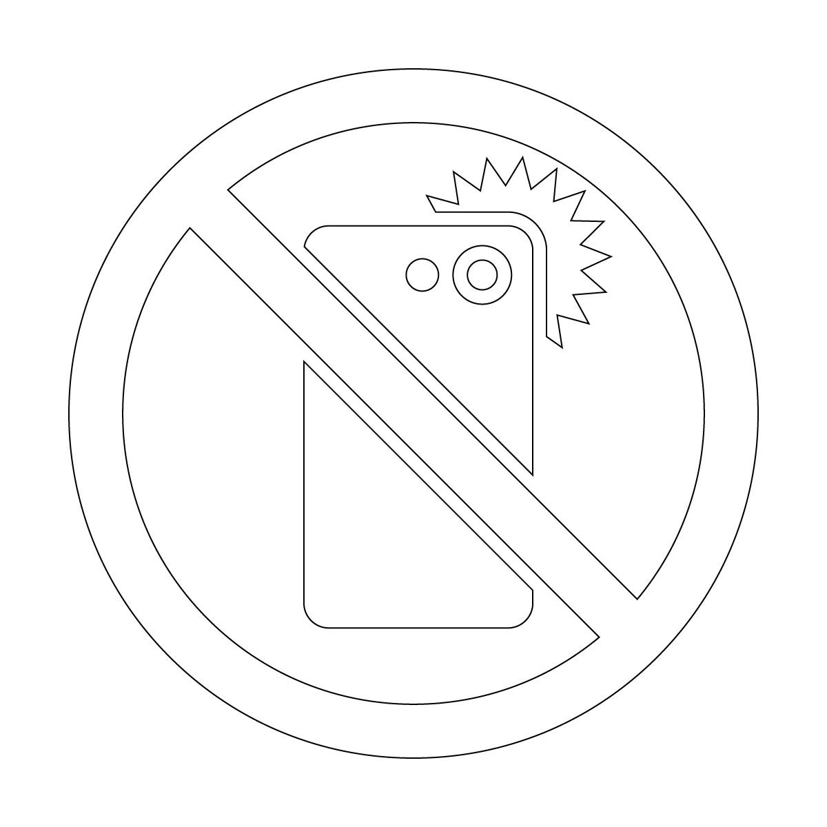 白色のスマホ撮影禁止マークのカッティングシートステッカー