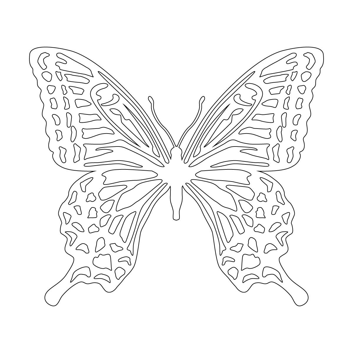 白色のアゲハ蝶・バタフライのカッティングステッカー・シール