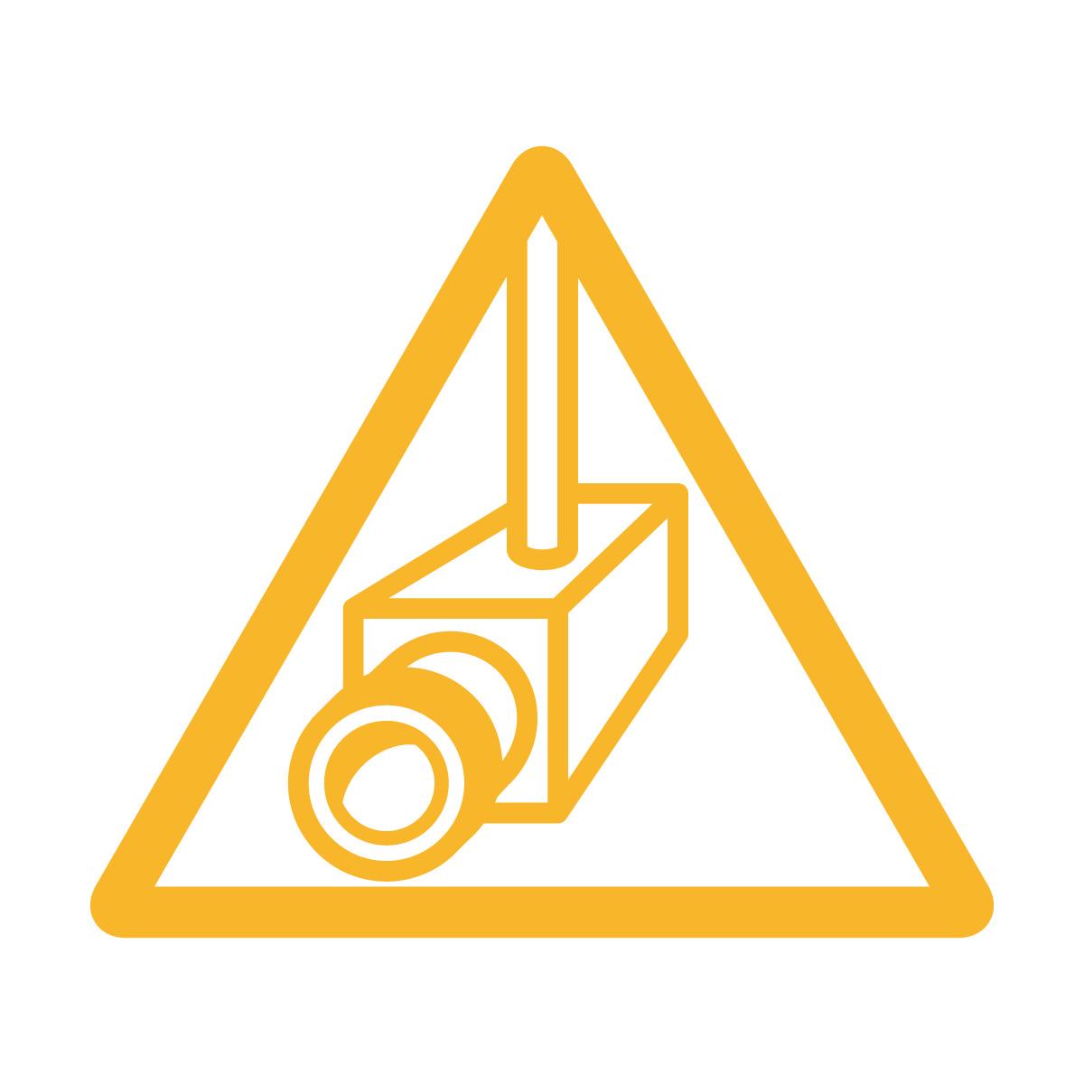 黄色い防犯カメラ・盗難抑止の注意マーク