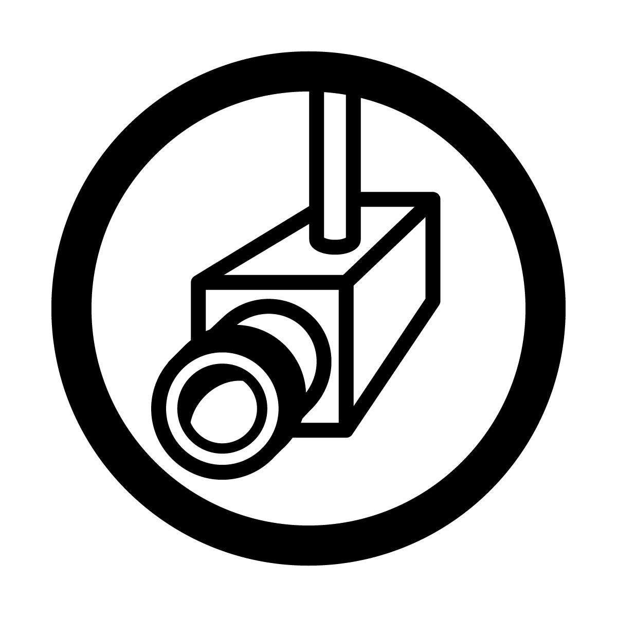 黒色の防犯カメラ・撮影中・録画中・万引き対策マークのカッティングステッカー・シール 光沢タイプ・防水・耐水・屋外耐候3~4年