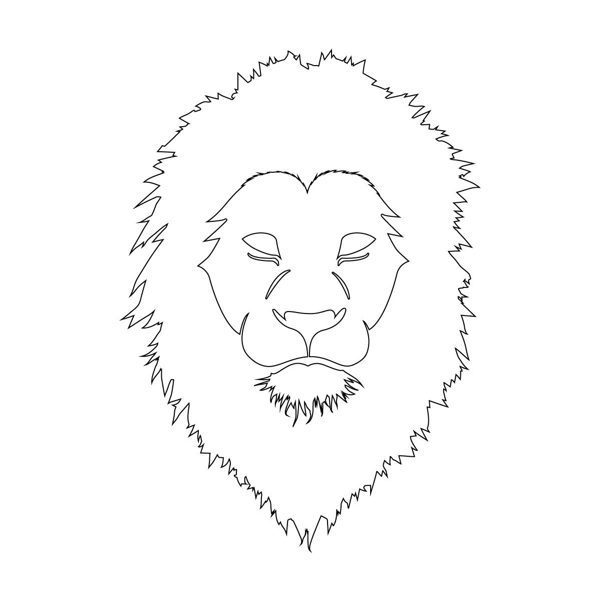 白色のライオン シール ステッカー カッティングステッカー かっこいい 獅子 光沢タイプ・防水 耐水・屋外耐候3~4年
